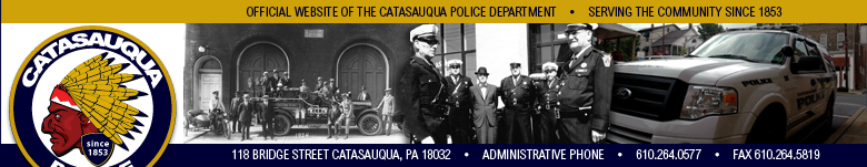 Welcome to the Catasauqua Police Website